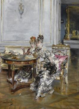 Confidences Artwork by Giovanni Boldini
