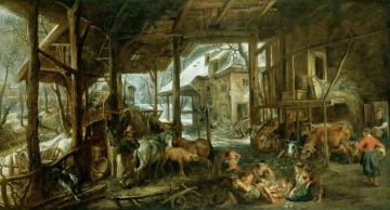 Winter - The Interior Of A Barn Artwork by Peter Paul Rubens