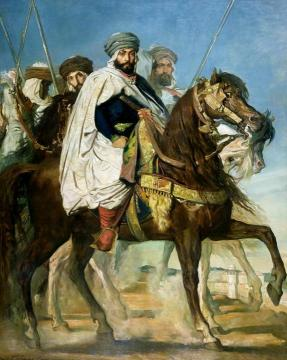 The Caliph of Constantine Ali-Hamed Followed by his Escort Artwork by Theodore Chasseriau