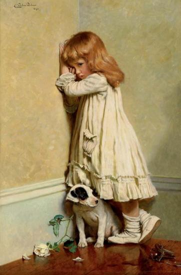 In Disgrace Artwork by Charles Burton Barber