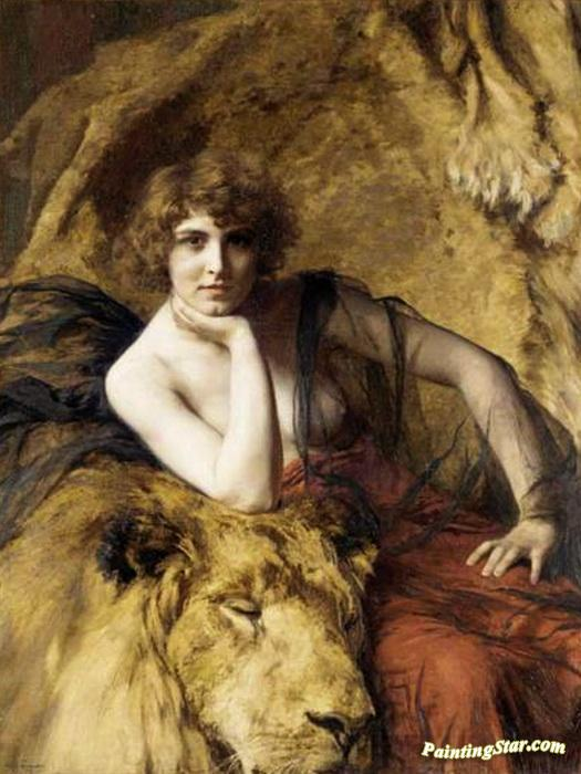 Woman With A Lion Artwork By émile Friant Oil Painting Art Prints