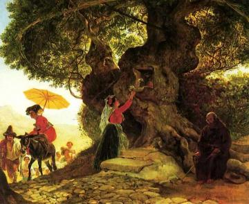 By the Bogoroditsky Oak Artwork by Karl Pavlovich Bryullov