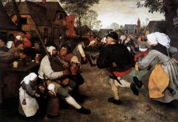 The Peasant Dance Artwork by Pieter Bruegel the Elder