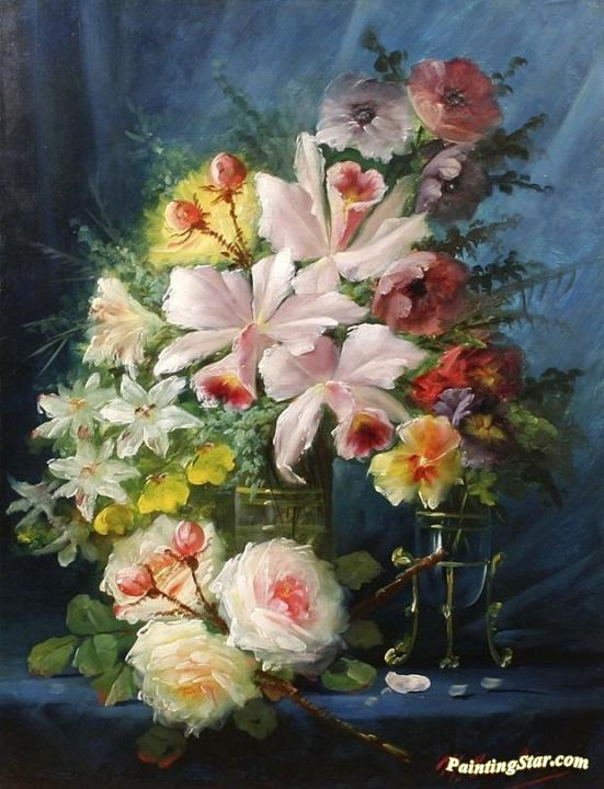 Still Life with Flowers Artwork by Max Carlier