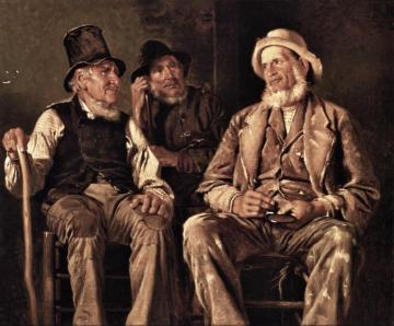 Three Old Codgers Artwork by John George Brown