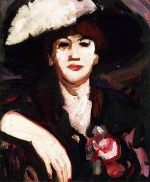 Anne Estelle Rice, Café d'Harcourt Artwork by John Duncan Fergusson
