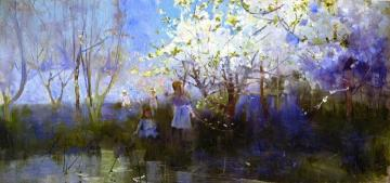 Orchard Scene Artwork by Charles Conder