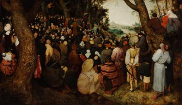 The Sermon Of St John The Baptist Artwork by Pieter Bruegel the Elder