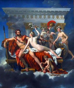 Mars Disarmed by Venus and the Three Graces Artwork by Jacques Louis David