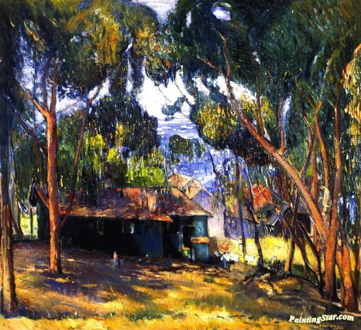 Green House, Laguna Beach, Art Painting by Joseph Kleitsch