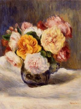 Bouquet of Roses Artwork by Pierre Auguste Renoir