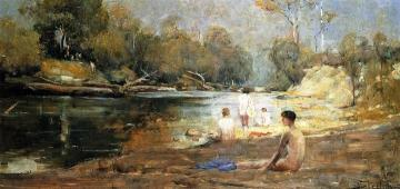 The Bathers Artwork by Sir Arthur Streeton