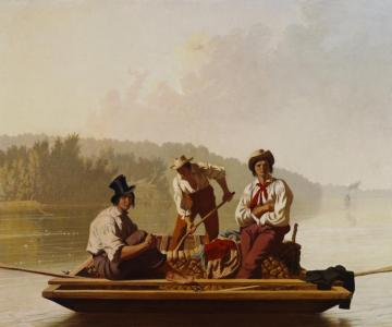 Boatmen On The Missouri Artwork by George Caleb Bingham