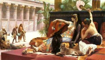 Cleopatra Testing Poisons On Condemned Prisoners Artwork by Alexandre Cabanel