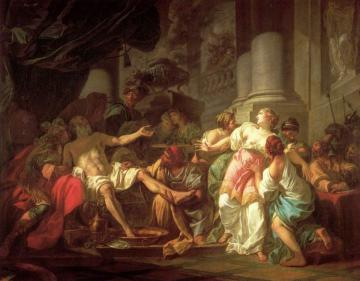 The Death of Seneca Artwork by Jacques Louis David