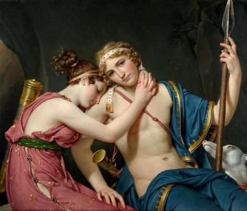 The Farewell Of Telemachus And Eucharis Artwork by Jacques Louis David