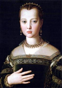 Portrait of Maria de' Medici Artwork by Agnolo Bronzino