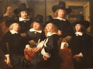 The Six Regents and the Beadle of the Nieuwe Zijds Institute for Outdoor Relief of the Poor Artwork by Ferdinand Bol