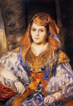 Madame Stora in Algerian Dress Artwork by Pierre Auguste Renoir