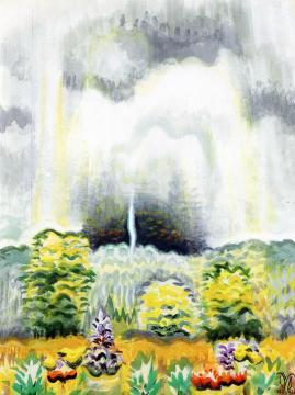 The Distant Boom Of Thunder Artwork by Charles Burchfield