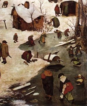 The Census at Bethlehem (detail) Artwork by Pieter Bruegel the Elder