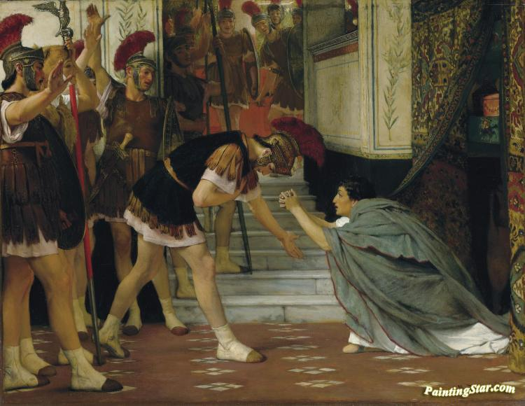 Proclaiming Claudius Emperor Artwork by Sir Lawrence Alma-Tadema