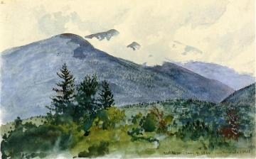 White Mountains from Fernald's Hill Artwork by Charles De Wolf Brownell