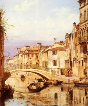 A Gondola On A Venetian Backwater Canal Artwork by Antonietta Brandeis