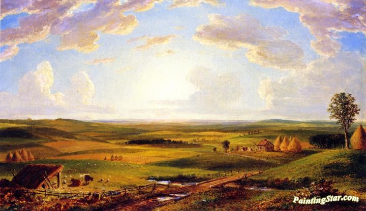Minnesota Prairie Artwork By Thomas P Rossiter Oil