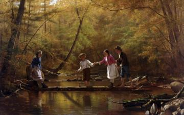 The Country Gallants Artwork by John George Brown