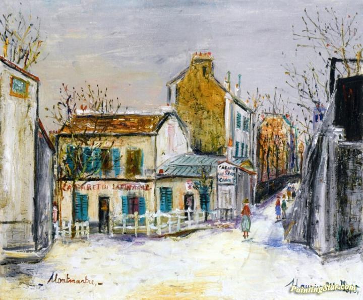 Cabaret Au Lapin Agile Artwork By Maurice Utrillo Oil ...