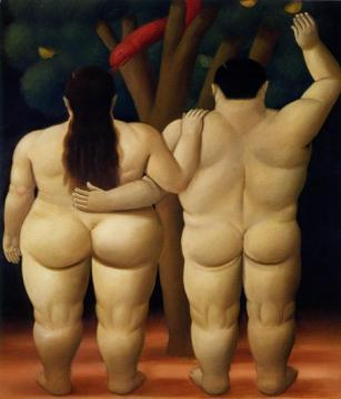 Adam And Eve Artwork by Fernando Botero