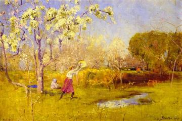 Butterflies and Blossoms Artwork by Sir Arthur Streeton