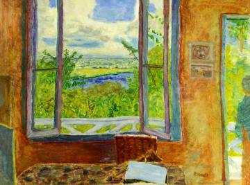 Open Window Toward The Seine (vernon) Artwork by Pierre Bonnard