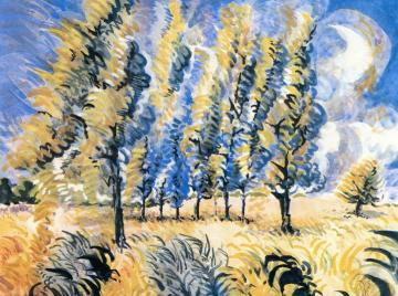 Wind Blown Trees Artwork by Charles Burchfield