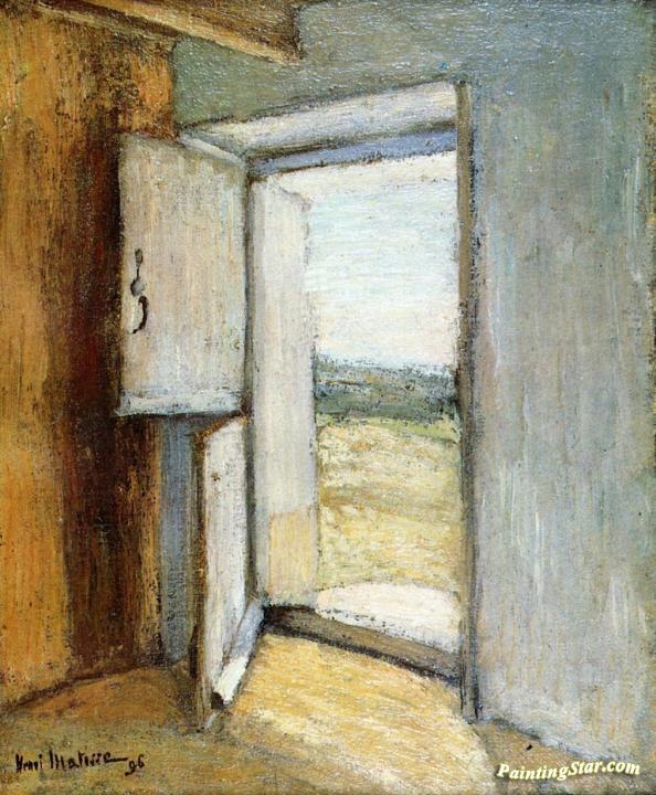 Open Door Brittany Artwork by Henri Matisse & Open Door Brittany Artwork By Henri Matisse Oil Painting u0026 Art ...