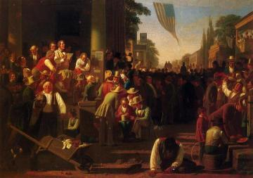 The Verdict of the People Artwork by George Caleb Bingham