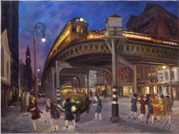 Sixth Ave. Elevated At Third Street Artwork by John Sloan