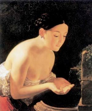 Italian morning Artwork by Karl Pavlovich Bryullov