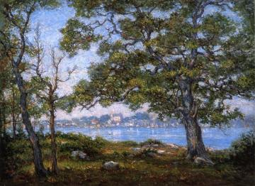 Noank from Mason's Island, Connecticut Artwork by Reynolds Beal