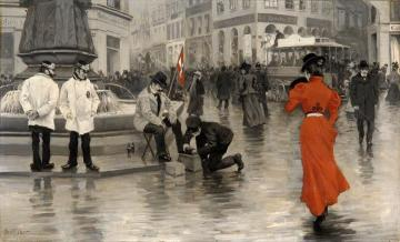 The Lady in Red Artwork by Paul Gustave Fischer