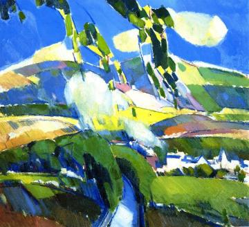 A Puff of Smoke near Milngavie Artwork by John Duncan Fergusson