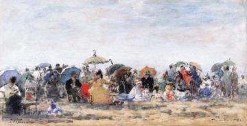 Beach Scene At Trouville Artwork by Eugène-Louis Boudin