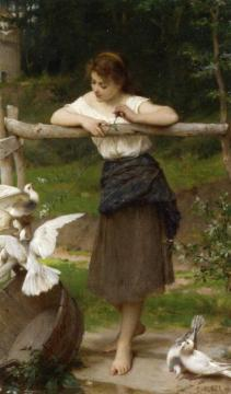 Teasing the Doves Artwork by Emile Munier