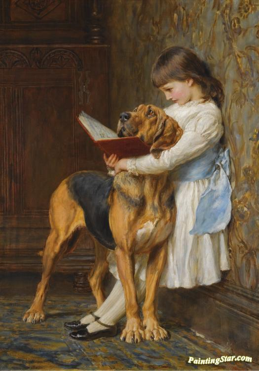 The Reading Lesson Artwork by Charles Burton Barber