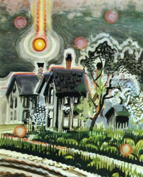 Sun Setting In A Bank Of Smoke Artwork by Charles Burchfield