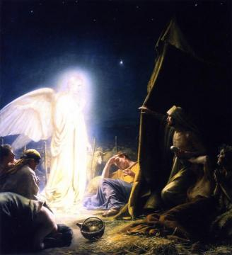 The Shepherds and the Angel Artwork by Carl Heinrich Bloch