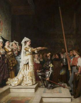 The Queen of the Tournament Artwork by Philip Hermogenes Calderon