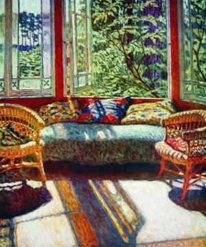 Sunny Morning Artwork by Nikolai Petrovich Bogdanov-belsky