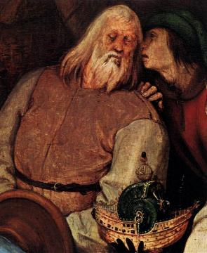The Adoration of the Kings (detail) Artwork by Pieter Bruegel the Elder